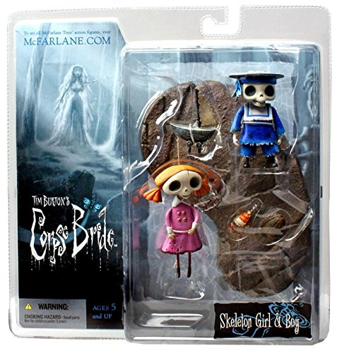 T M P Intl Corpse Bride Action Figure Skeleton Boy and Girl