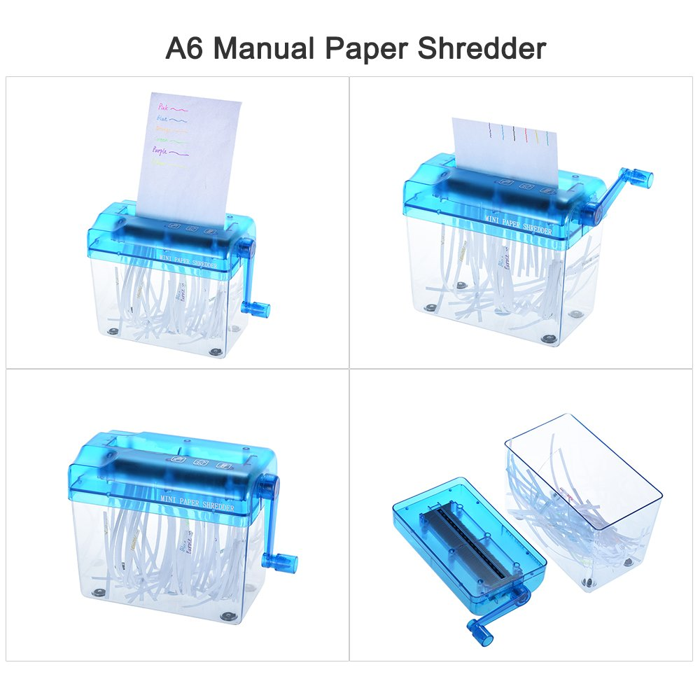 Aibecy A4 //A6 Manual Hand Paper Shredder 9 Document File Handmade Straight Cutting Machine Tool for School Office Home Use