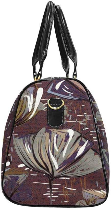 InterestPrint Carry-on Garment Bag Travel Bag Duffel Bag Weekend Bag Colorful Floral