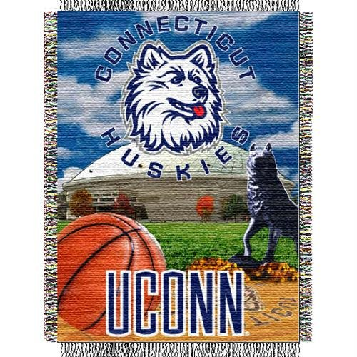 Huskies Acrylic Tapestry Throw (NCAA Connecticut Huskies Home Field Advantage Woven Tapestry Throw, 48