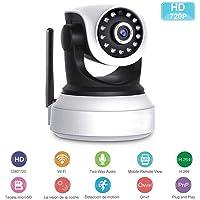 SEEDARY Cámara IP Wifi, Cámara de Vigilancia Interior HD 720P P2P, Cámara de seguridad, IR-Cut Visión Nocturna Detección de Movimiento CCTV Sistema de Seguridad para el Hogar/Bebé/Mascotas con Micrófono y Altavoz, Compatible con iOS y Android. DIYtech