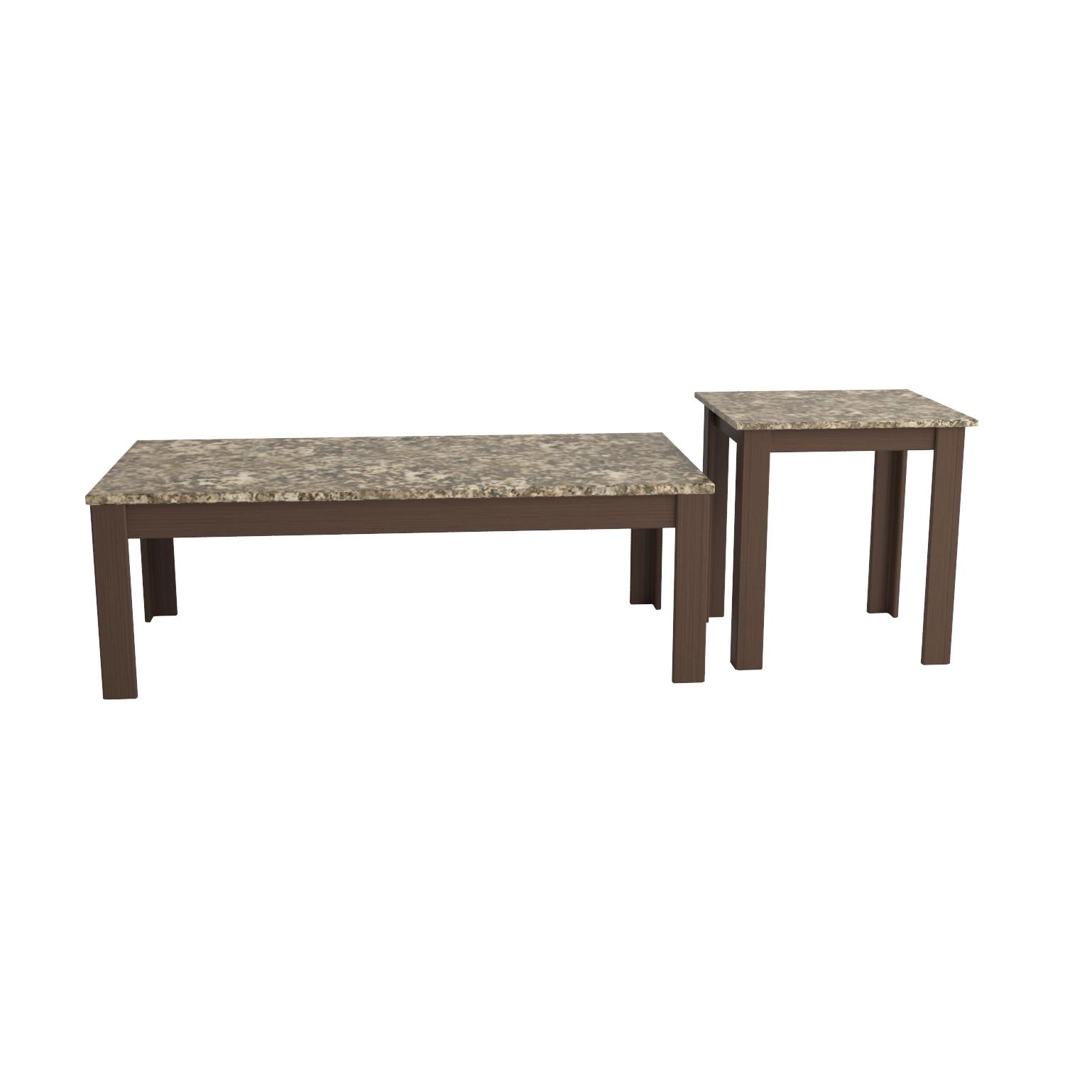 Amazon Coaster Home Furnishings 3 Piece Faux Marble Top