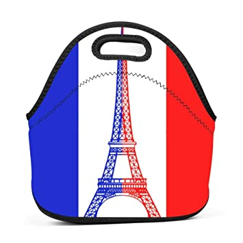 d42e76cb77eb Amazon.com: French Flag Eiffel Tower Tricolore France Insulated ...