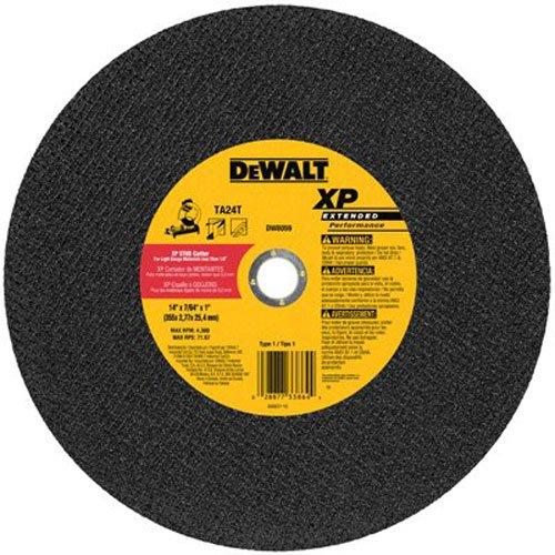 DEWALT DW8059 14-Inch by 7/64-Inch XP Metal Stud Cutting Wheel, 1-Inch Arbor