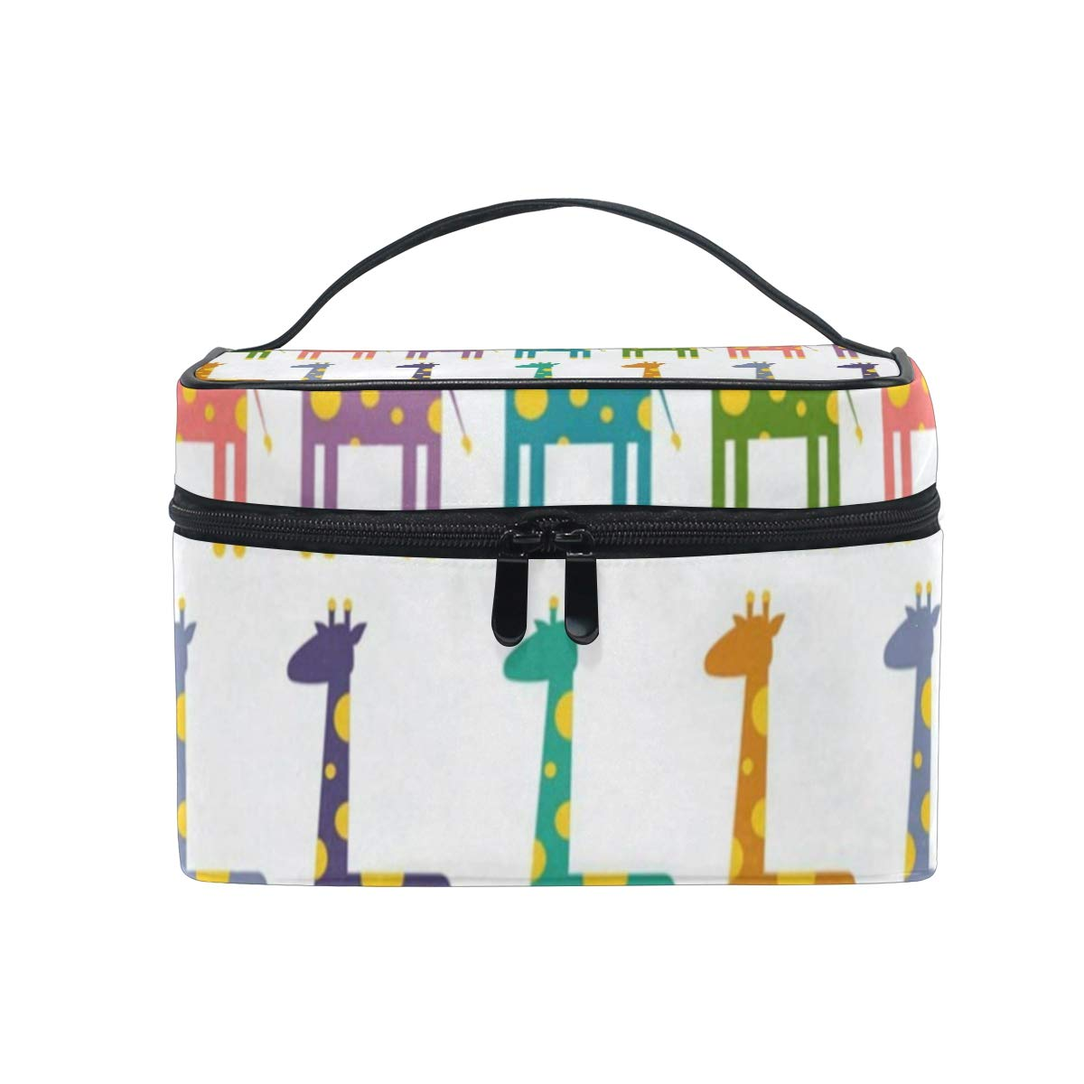 3dd5022aa86f Amazon.com : Makeup Bag Bright Colored Giraffes Cosmetic Bag ...