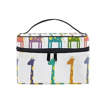 b645c5c4c2ad Makeup Bag Bright Colored Giraffes Cosmetic Bag ... - Amazon.com