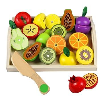 Spielzeug Speisen Schneiden Plastikmaterial Spielen Obst Gemüse Pretend Role Lernspielzeug