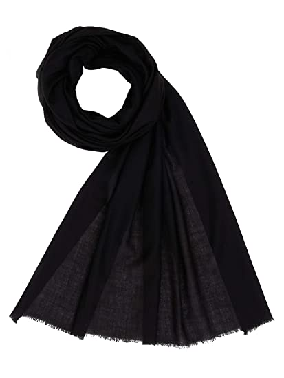 b575eff84 100% Cashmere Womens Mens Scarf Stole Shawl Made in Kashmir Black ...