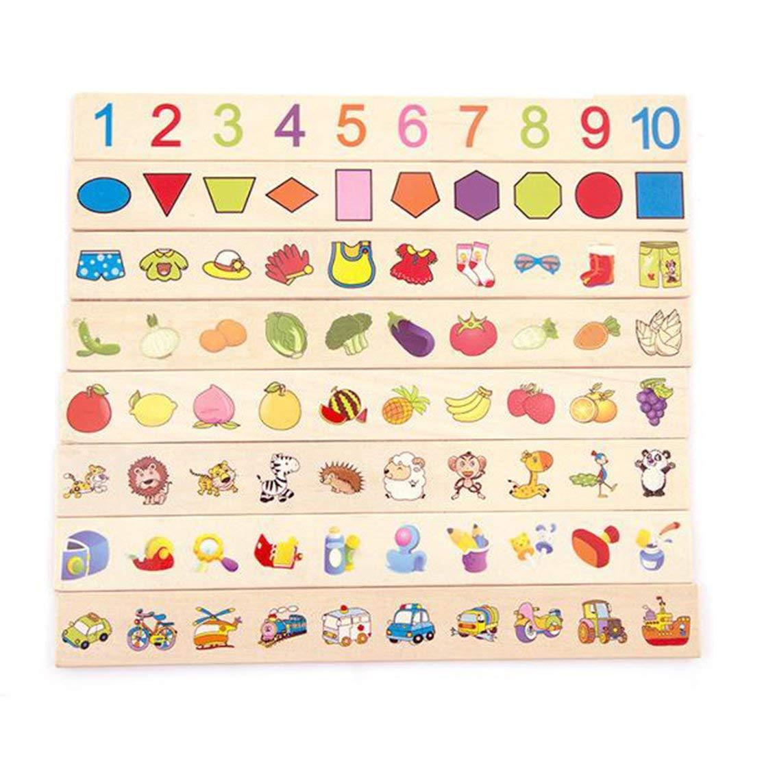 Scatola di classificazione delle conoscenze Montessori Giocattoli di Legno per Bambini Giocattolo educativo di apprendimento precoce Scatole di categoria di Corrispondenza Kaemma