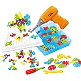 Toyvelt Building Block Games Set With Toy Drill & ScrewDriver Tool set Educational building blocks construction games…