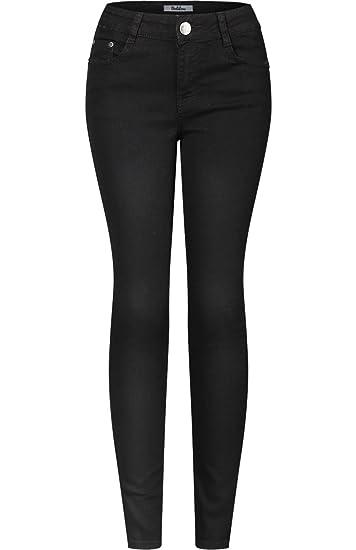 b72f15e5ebff Amazon.com: 2LUV Women's Stretchy 5 Pocket Skinny Solid Dark Denim ...