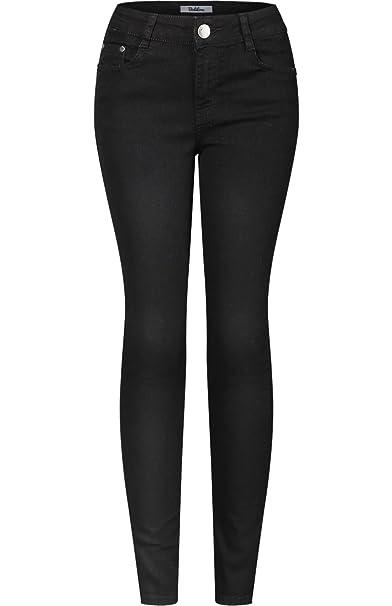 d62f51fa74 Amazon.com  2LUV Women s Stretchy 5 Pocket Skinny Solid Dark Denim ...