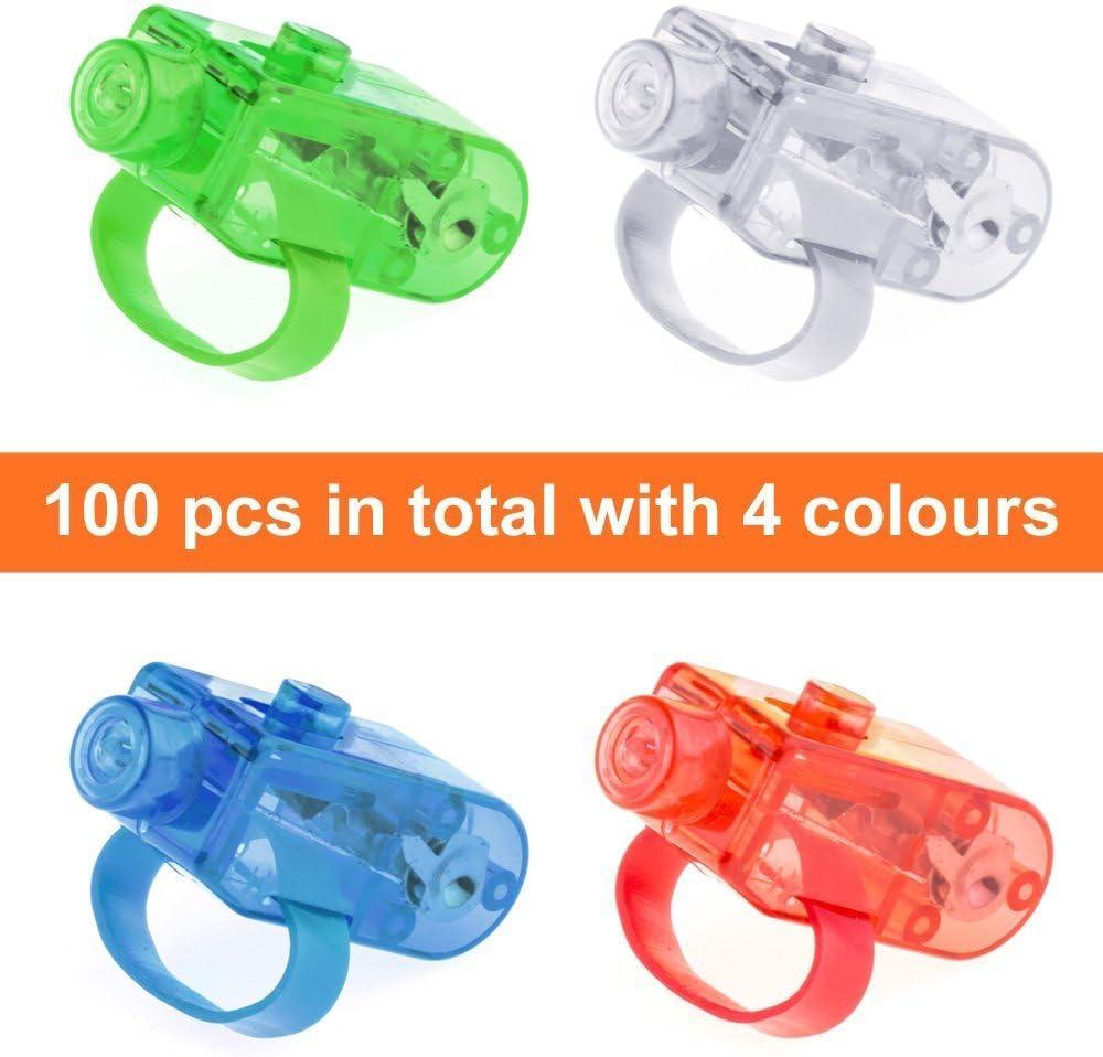 Ferryman 100 Pcs LED Lumi/ères Finger Light Up Jouets Party Faveur Fournitures