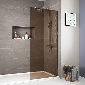 Duschdeluxe Walk in Wet Room - Mampara de ducha (8 mm, cristal templado, fácil de limpiar): Amazon.es: Bricolaje y herramientas