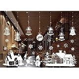 Das label wiederverwendbare winterliche fensterbilder wei d rfchen mit kirchturm - Fensterfolie weihnachten ...