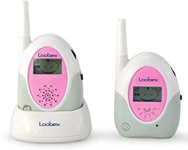 Loobex LBX-2615 LBX-2615 LCD Ekranlı Bebek Dinleme Telsizi (Pembe) (800 mt-Şarj Standı-32 Kanal), Pembe