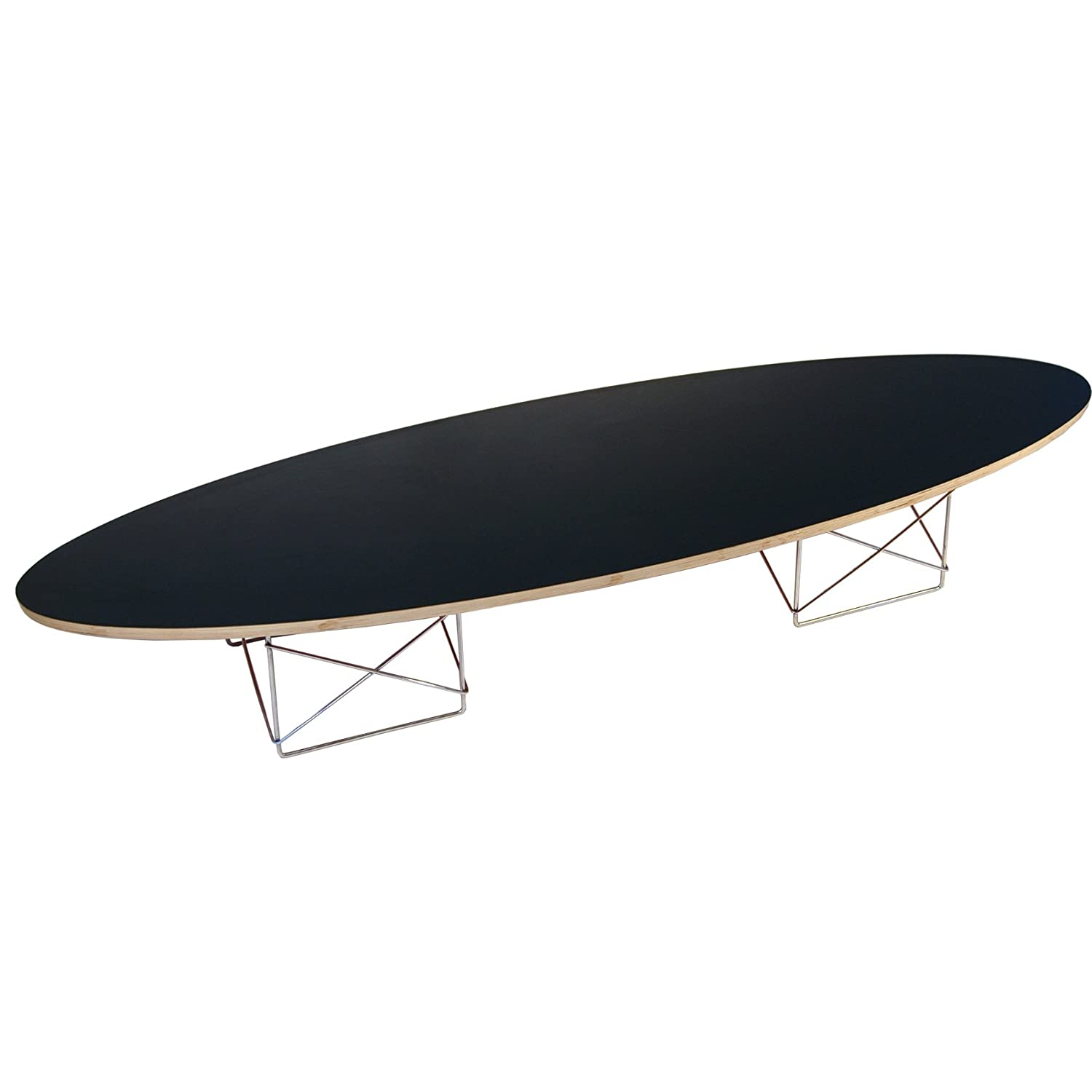 Eames Surfboard Coffee Table.Eames Elliptical Surfboard Coffee Table Black