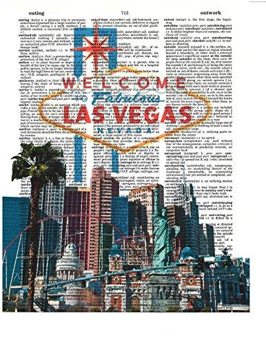 Signature Studios Las Vegas Strip photo Dictionary Art Print Wall Decor (Las Vegas Strip Photo)