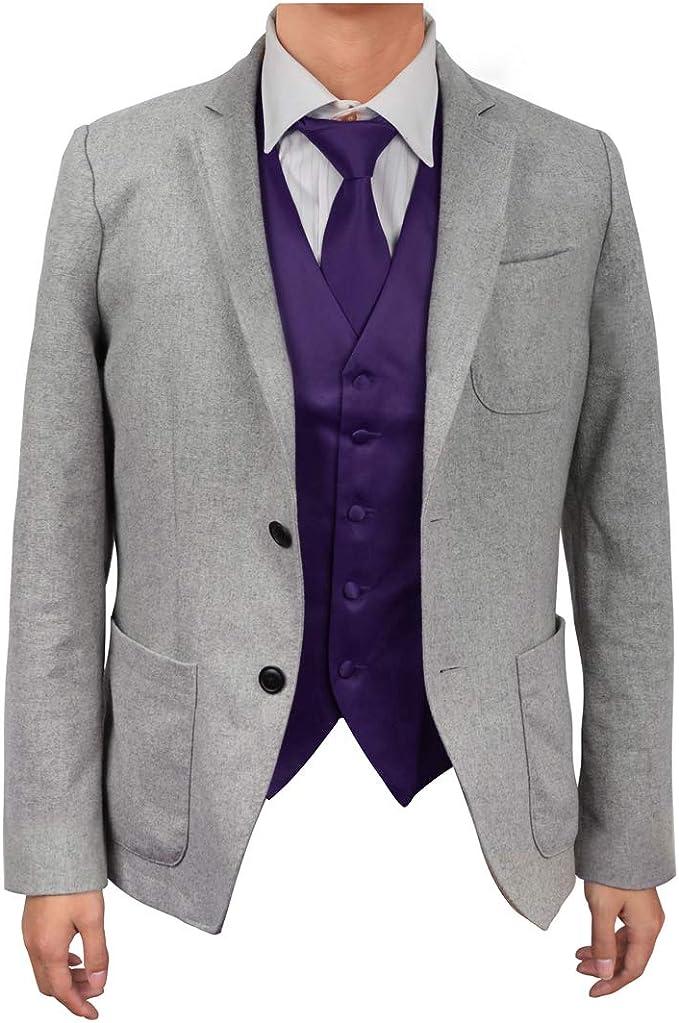 MENS DARK CLASSIC LAVENDER 8.5CM TIE necktie wedding plain formal