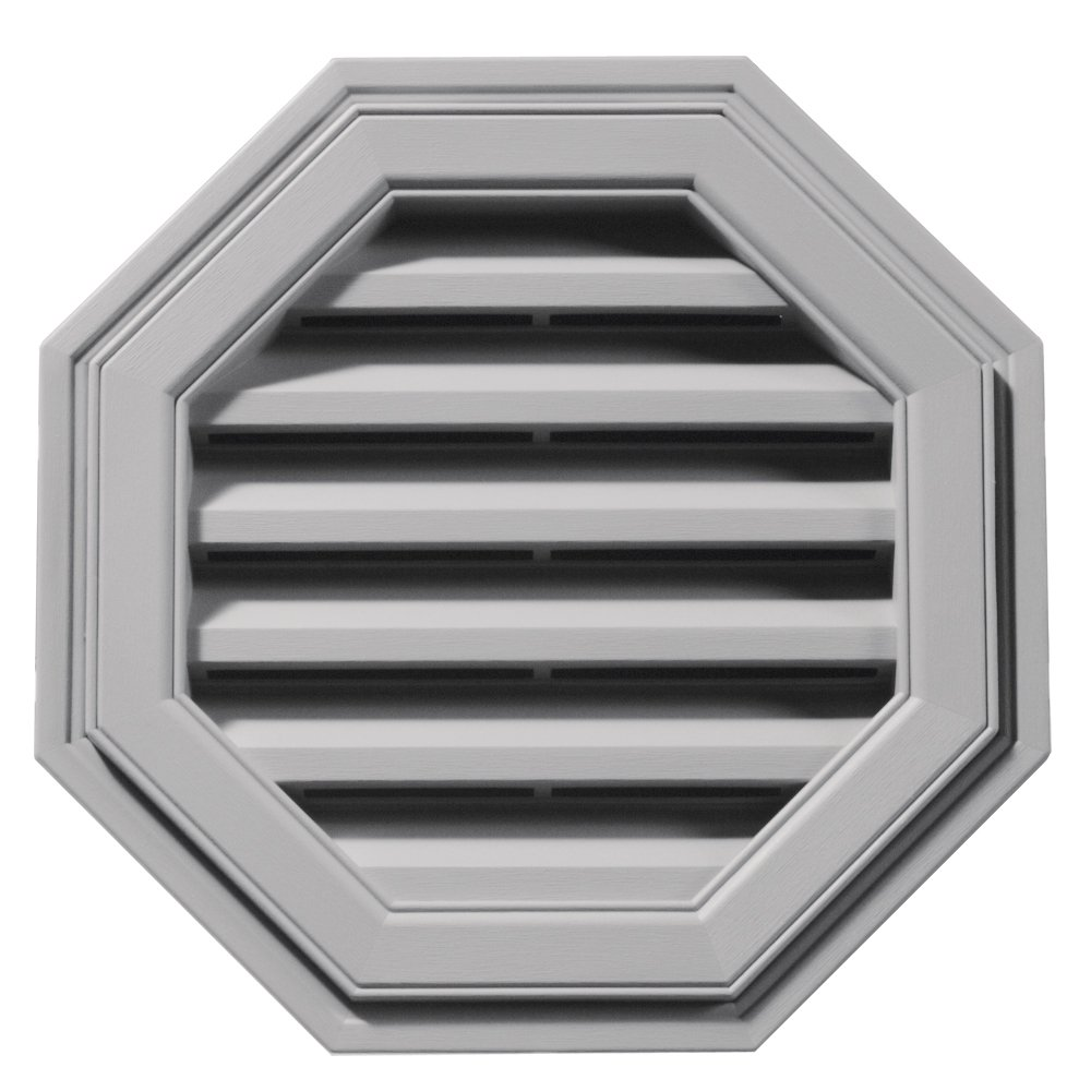 Builders Edge 120011818016 18'' Octagon Vent 016, Gray