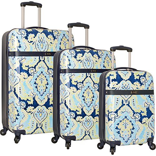 Chaps 3 Piece Hardside Spinner Luggage Set, Blue ()