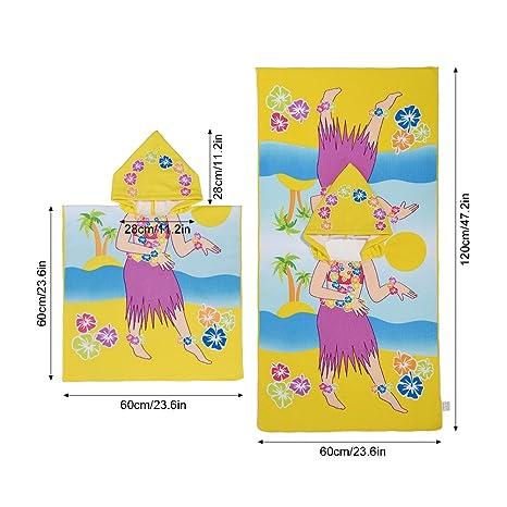 uarter Capucha Toallas Algodón Manopla plegable de toallas con bonitas impresión, adecuado para niños,