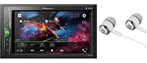 "Pioneer MVH-210EX 6.2"" VGA Touchscreen WebLink Double DIN, Bluetooth USB MP3 Aux Input, in-Dash Siri Eyes Free & Google VR, Multi-Color Illumination Digital Media Receiver/Free ALPHASONIK Earbuds"