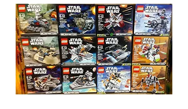 LEGO Star Wars Microfighters Series 1 and 2 Set of 12 (75028, 75029, 75030, 75031, 75032, 75033, 75072, 75073, 75074, 75075, 75076, and 75077) by ...