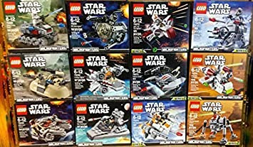 LEGO Star Wars Microfighters Series 1 and 2 Set of 12 (75028, 75029,