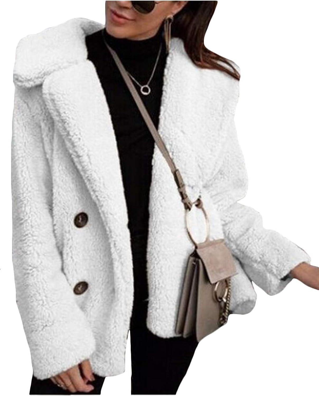 Vosujotis Le Donne della Outwear Spessa Lana Fuzzy Pelliccia Teddy Giacche Cappotti