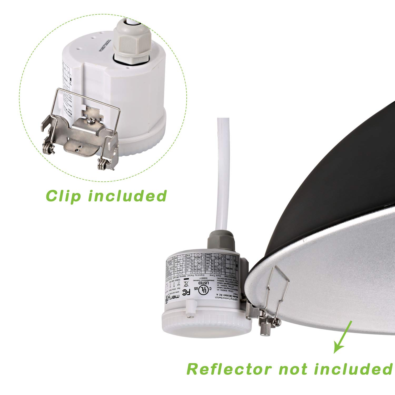 Hykolity 360 Degree Microwave Motion Sensor Waterproof Motion Sensor Light Switch for 100w UFO LED High Bay Light Fixture