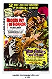 RARE POSTER thick BLOODY PIT OF HORROR / TERROR CREATURES FROM THE GRAVE horror movie 1965 giclee REPRINT #'d/100!! 12x18