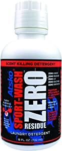 Atsko 1338Z Zero Sport-Wash Laundry Detergent 18 fl oz bottle, Black