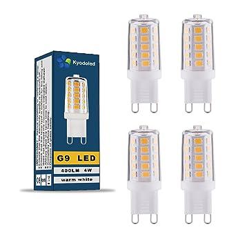 Bombilla LED G9 de bajo consumo, sin efecto estroboscópico, 4 W equivalentes a una bombilla halógena ...