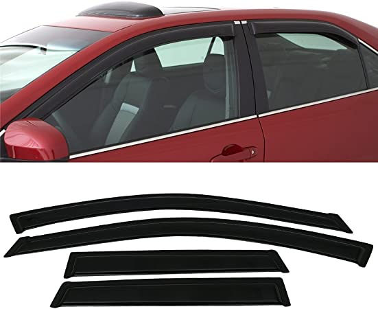 2006 2007 2008 2009 Window Visor Compatible With 2005-2010 Chrysler 300 300C Rear Window Visor Spoiler Sun Roof Deflector GTS Style by IKON MOTORSPORTS