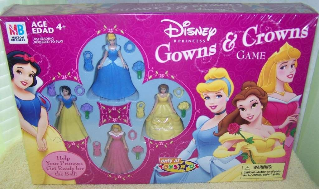 Amazon.com: Disney Princess *Gowns & Crowns* Game: Toys & Games