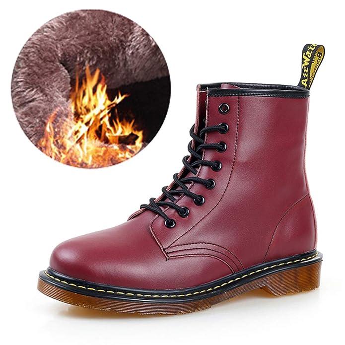 Amazon.com | Men Martens Leather Moccasins Winter Warm Shoes Doc Martins Ankle Boot | Shoes