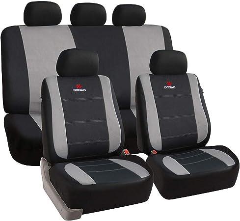 Esituro Universal Sitzbezüge Für Auto Schonbezug Schoner Komplettset Schwarz Grau Scsc0112 Auto
