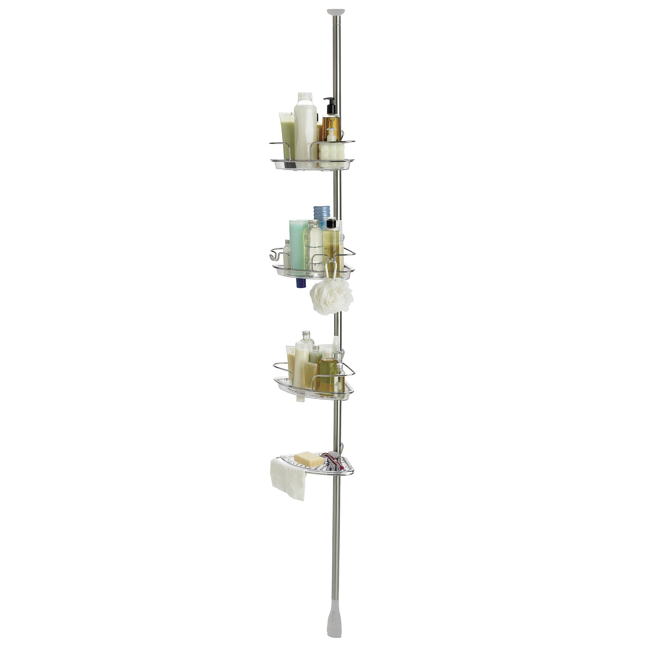 OXO Good Grips Lift and Lock Stainless Steel Tension Pole Shower Caddy by OXO (Image #2)