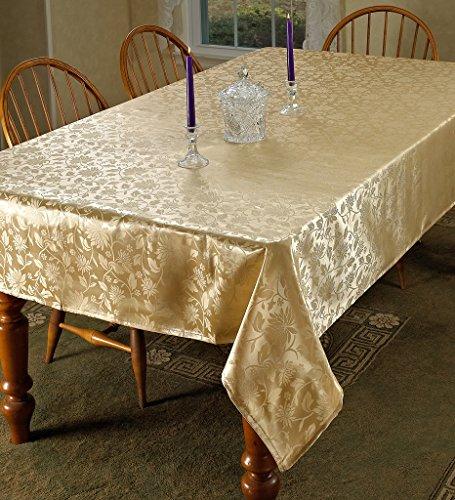European Floral Design Tablecloth Gold 70