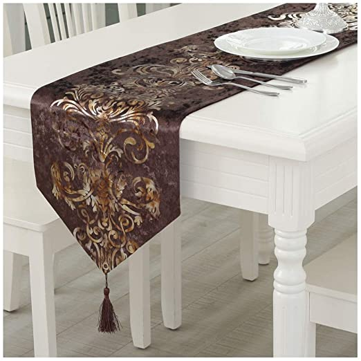 Caminos de mesa Velvet Table Runner decoración clásica Europea ...