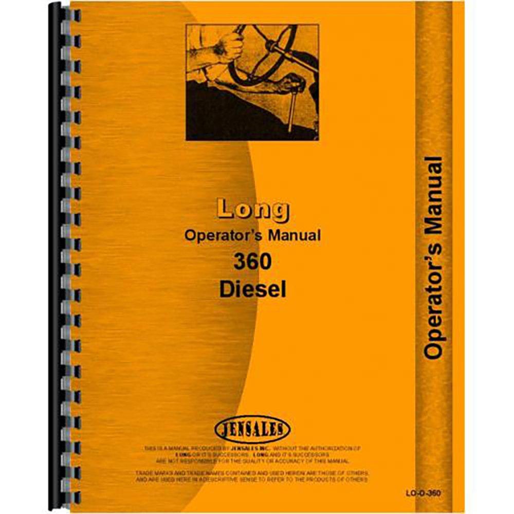 Long 360 Diesel Tractor Operators Owners Manual