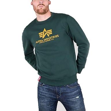 524b381bf Alpha Industries Men's Basic Sweater Jumper: Amazon.co.uk: Clothing