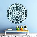 Sticker Mural Autocollant De Vinyle Stickers Art Intérieure Décor Murale Mandala Ornement Géométrique Indien Marocain Dessin Yoga Namaste Fleur Om Chambre à Coucher An23