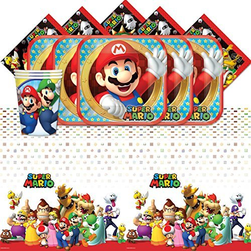 Super Supplies Party Mario - SUPER MARIO 16 GUEST AMZ