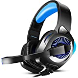 PHOINIKAS H9 Wired Stereo Gaming Headset, PS4 Xbox One, Over Ear Headphones with Noise Isolating Mic, LED Light, Volume Control for Laptop, PC, Tablet, iMac, PSP, Mobile Phone Over Ear Headphones
