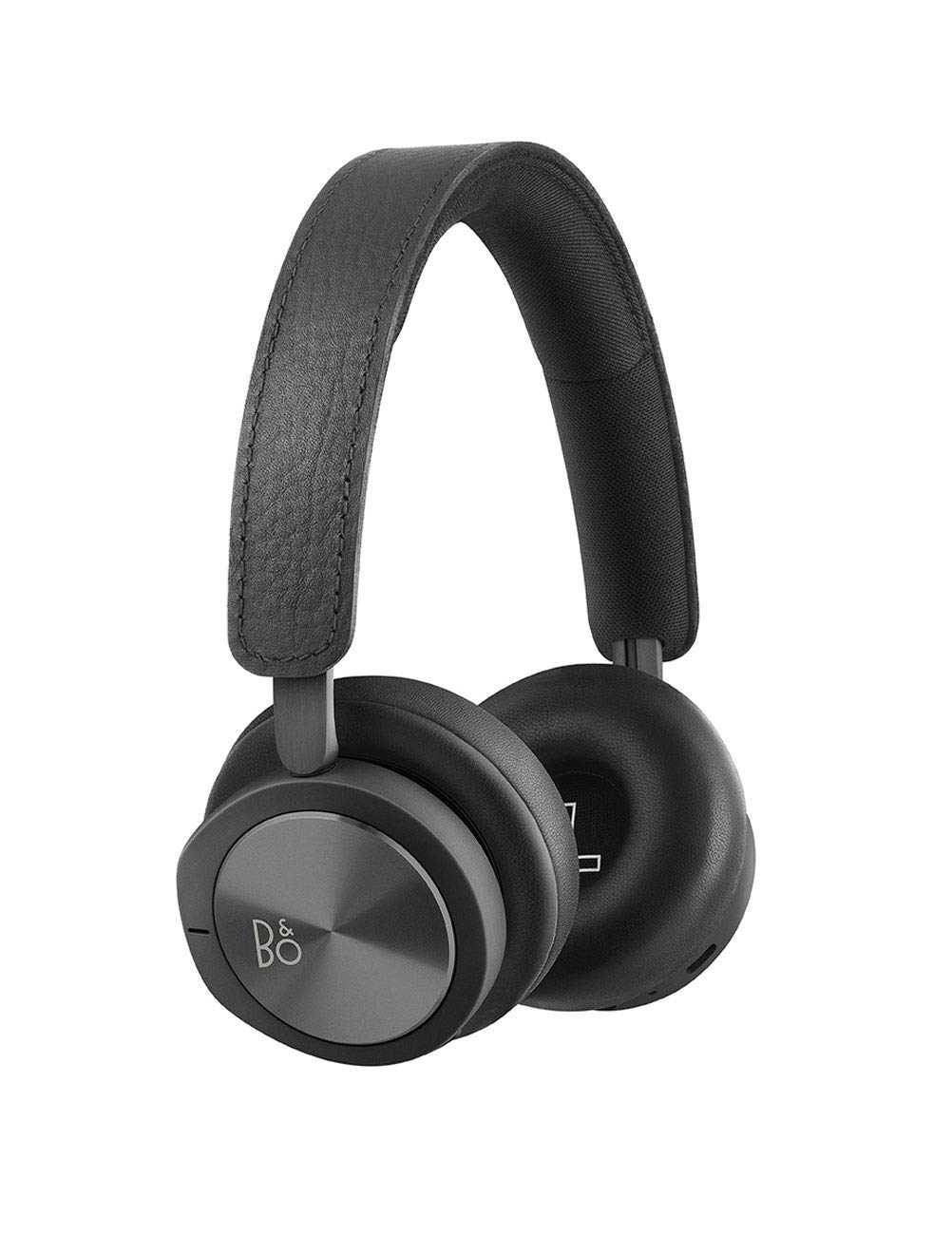B O PLAY by Bang Olufsen Beoplay H8i Wireless Bluetooth On-Ear Headphones with Active Noise Cancellation ANC , Transparency mode and Microphone Black Renewed