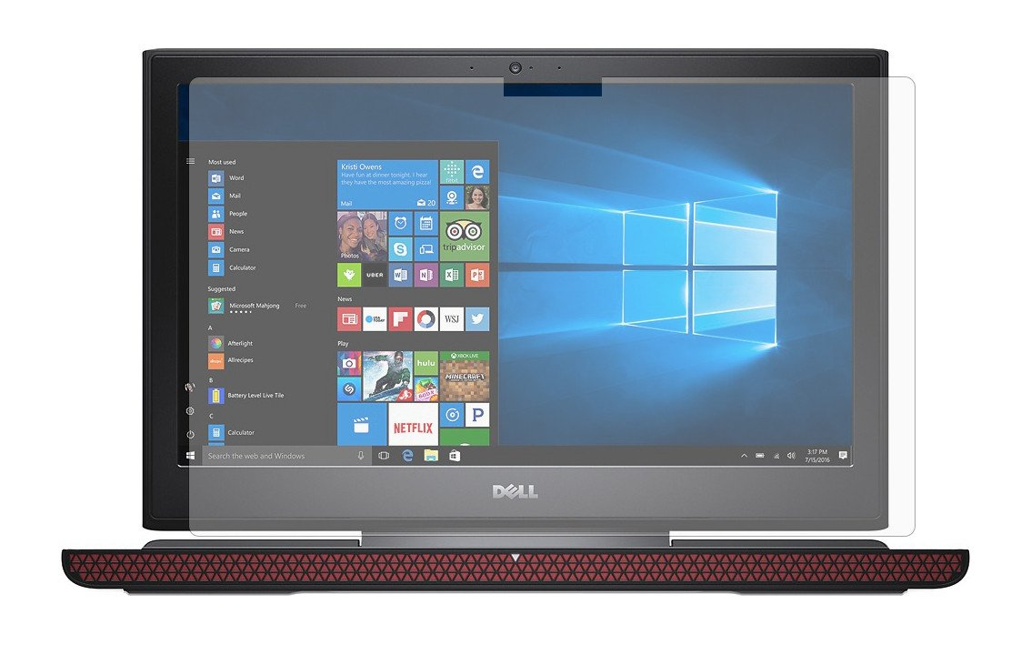 PcProfessional Screen Protector (Set of 2) for Dell Inspiron 15 7000 series 7567 15.6'' Gaming Touch Screen Laptop High Clarity Anti Scratch