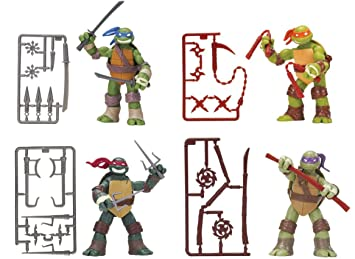 Nickelodeon Teenage Mutant Ninja Turtles Set of 4 Basic ...