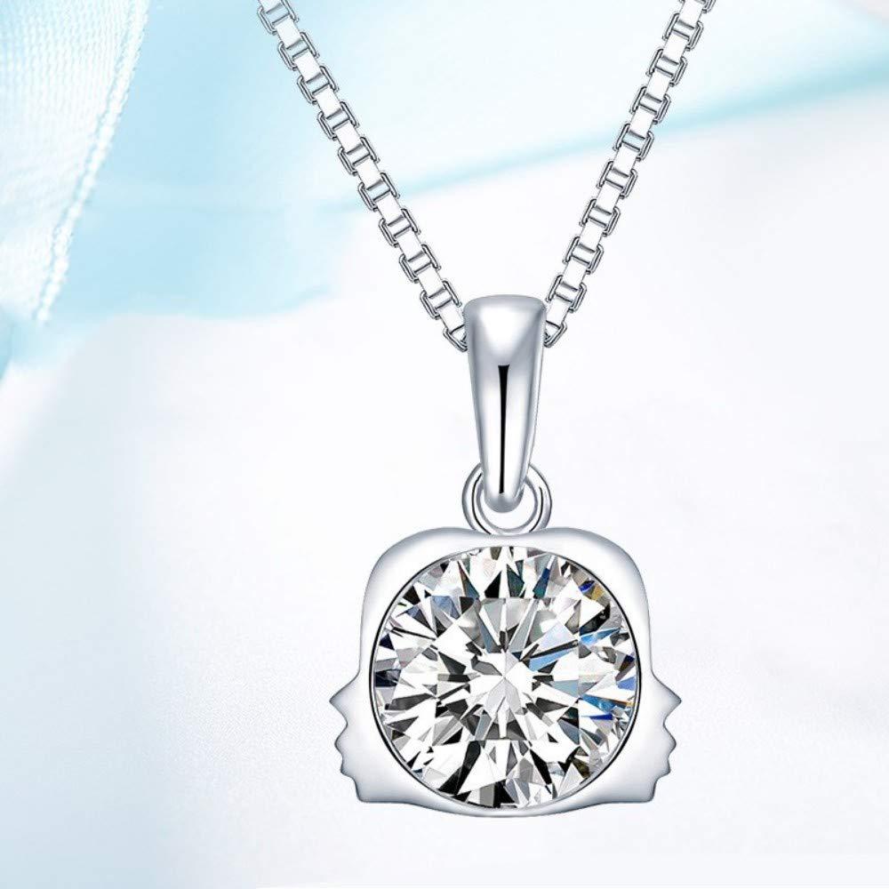QWERST女性ネックレススターリング星座ペンダントファッションシンプルなエレガントな絶妙なチャームネックレス最高の贈り物   B07MC86SXS